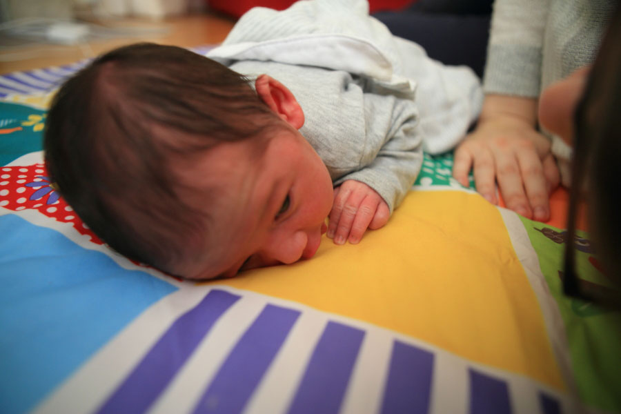 Tummy time with Mama