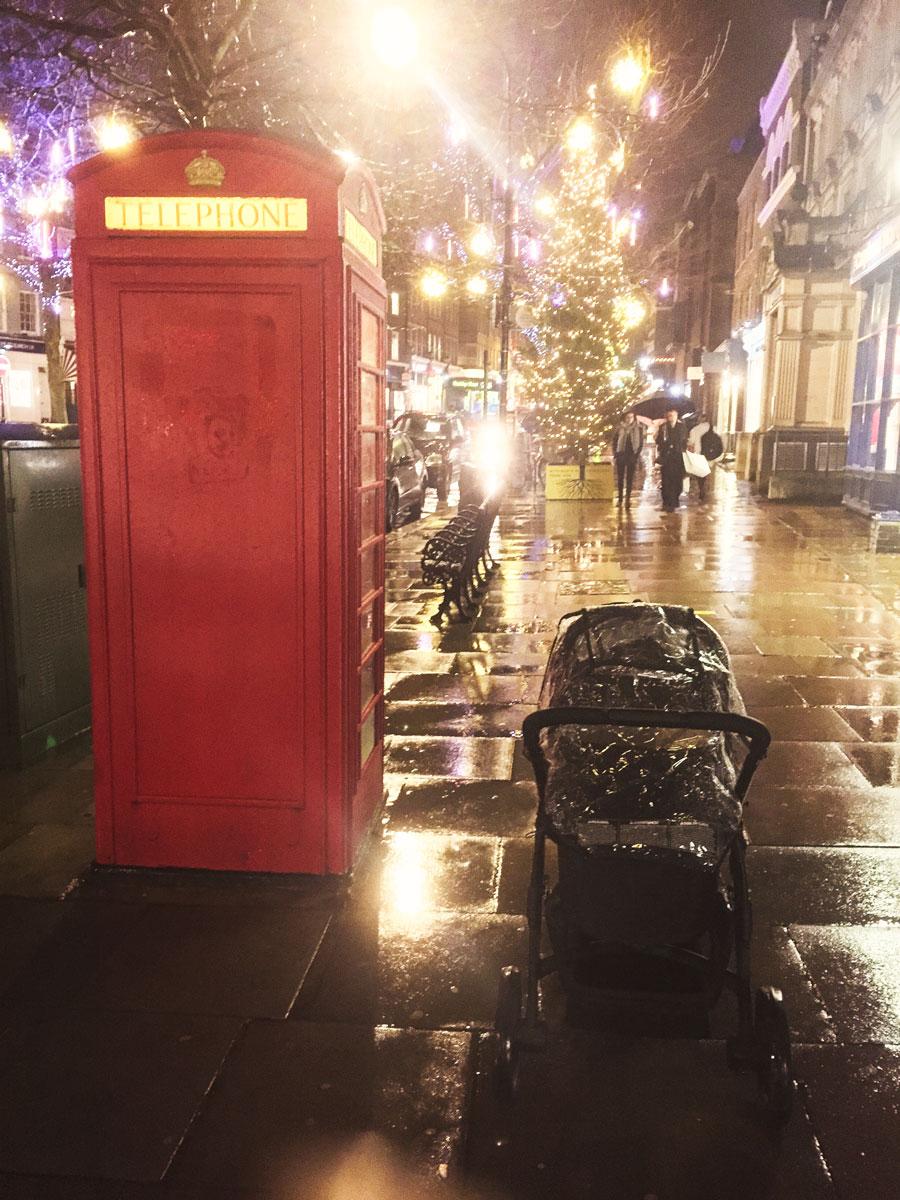 In the London rain